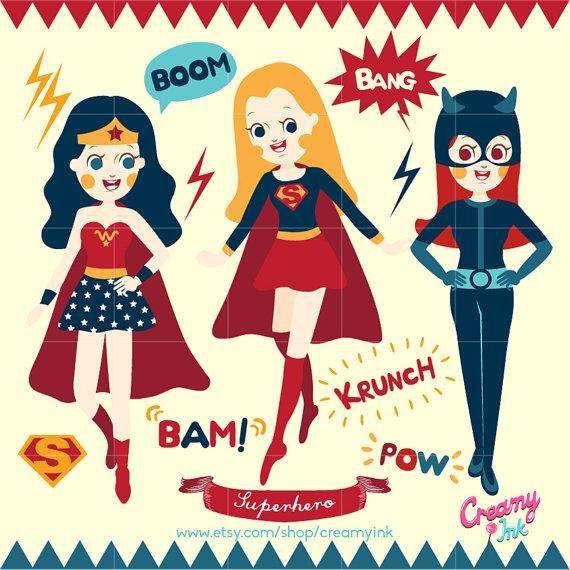 Catwoman clipart wonder woman Digital  art Superhero Party