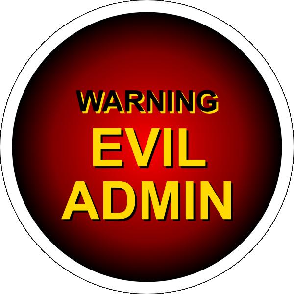 Notice clipart warning Admin clip this online com