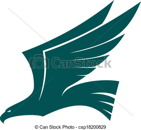 Wings clipart falcon wings Falcon with of Vector bird