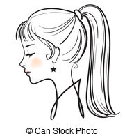 Beautiful clipart black and white Beautiful woman face beautiful illustration