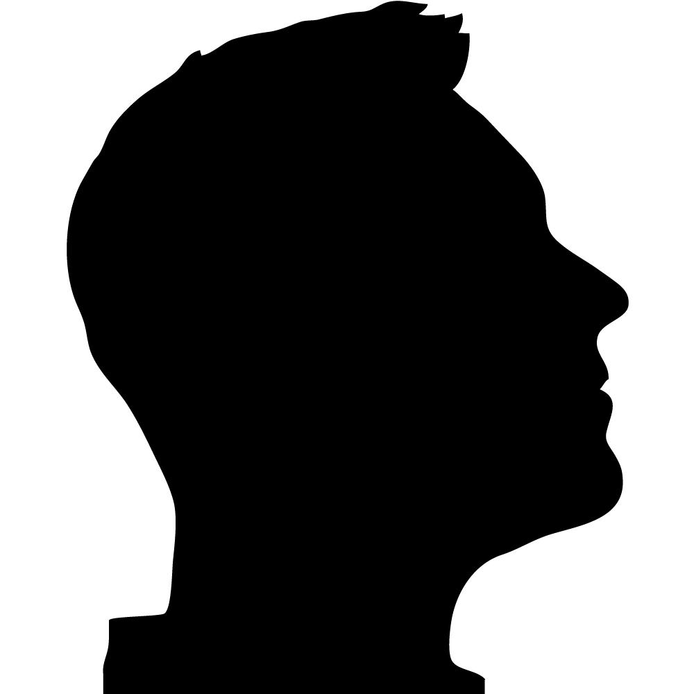 Profile clipart silhouette #6
