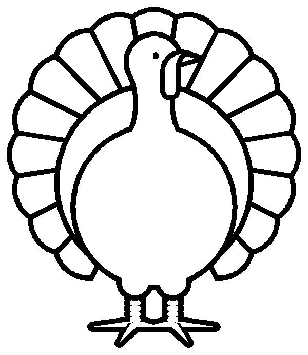 Monochrome clipart turkey Black art black white clip