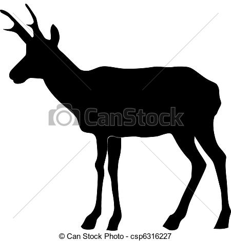 Pronghorn Antelope clipart Antelope Pronghorn Pronghorn Silhouette Antelope
