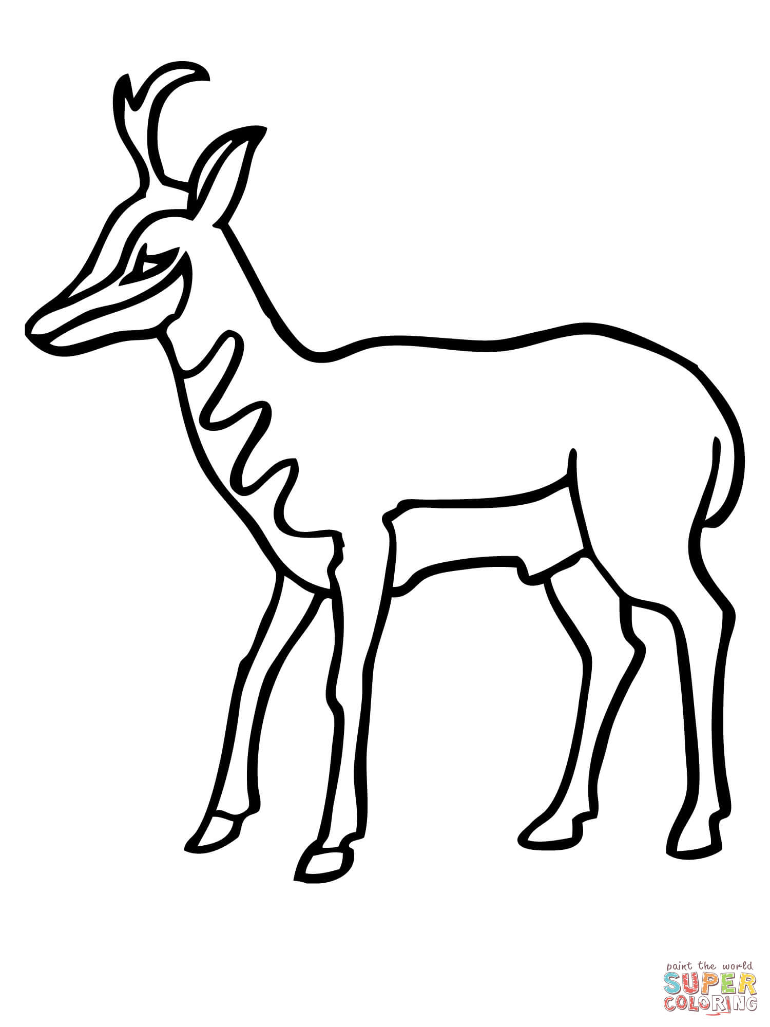 Pronghorn Antelope clipart Printable page the Pronghorn Click