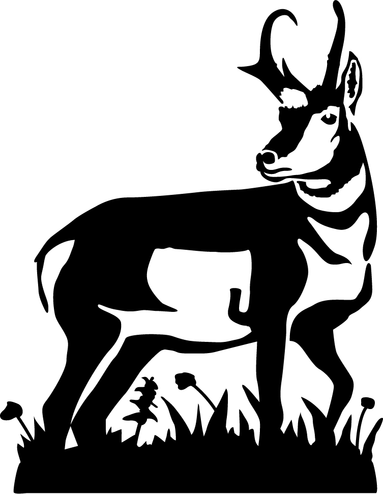 Pronghorn Antelope clipart Silhouette Antelope Pronghorn Pronghorn Silhouette
