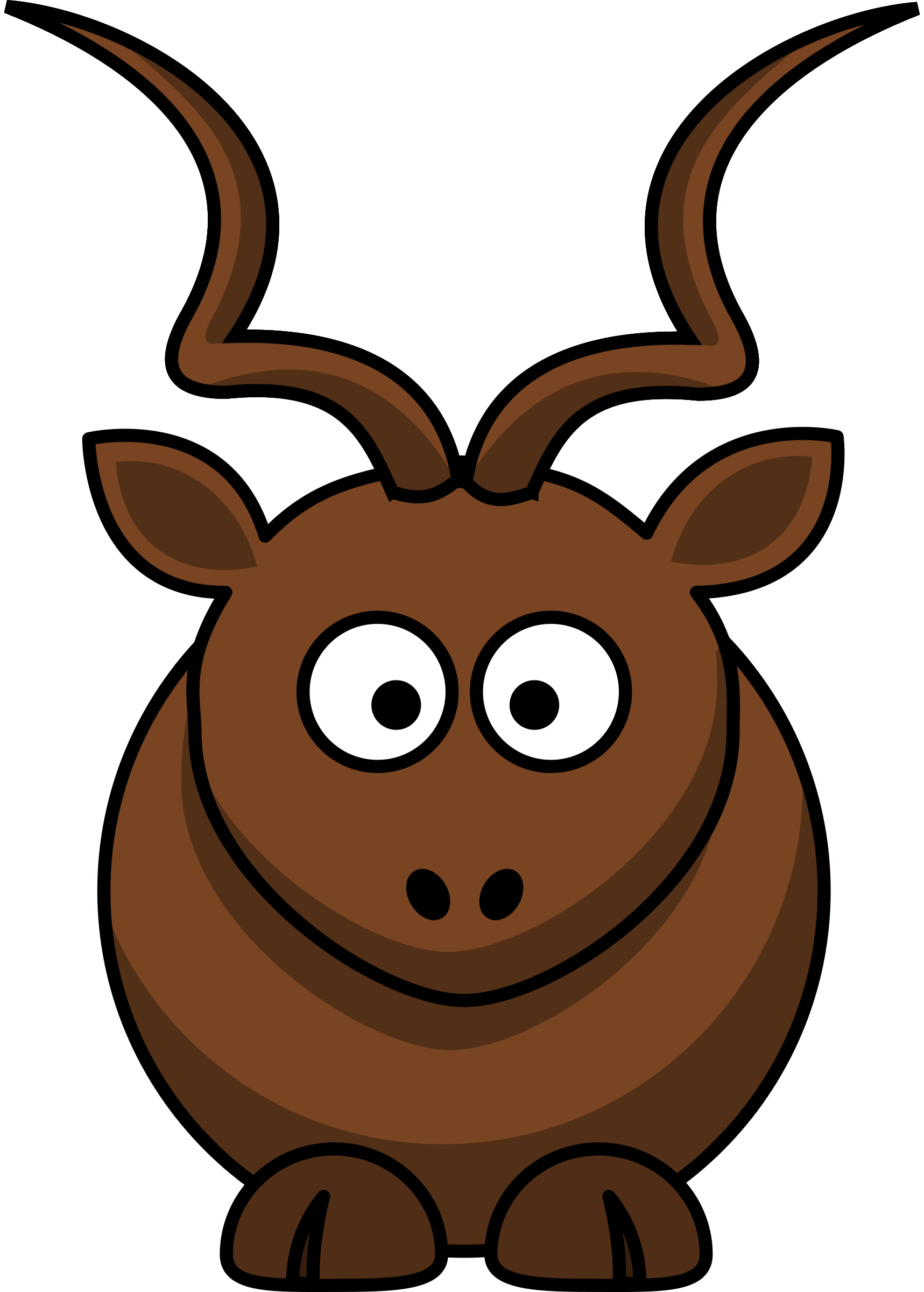 Antelope clipart cartoon Cartoon Cartoon kudu Clipart kudu