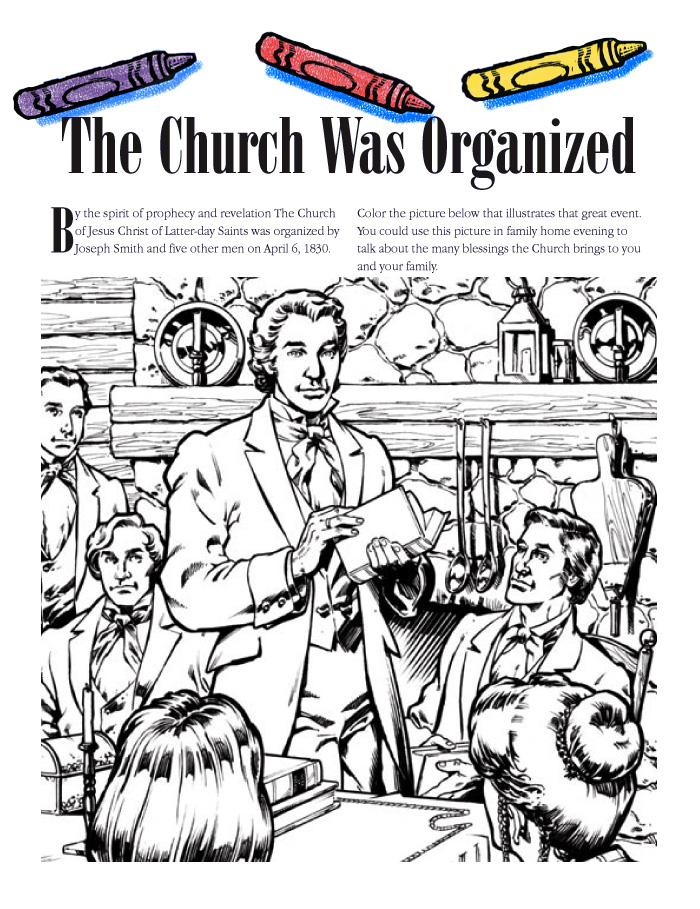 """Prophecy clipart lds family Organized"""" Was """"The Church Coloring"""