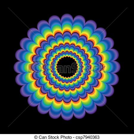 Physcedelic clipart colorful Wheel on Art  Clip