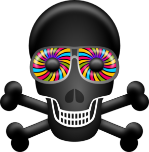 Psychedelic clipart Rainbow Clip at Skull clip