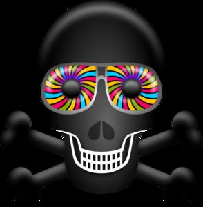 Physcedelic clipart Rainbow Art Clip Art Skull