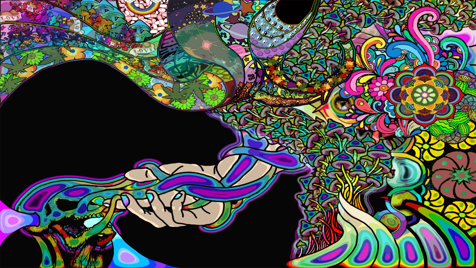 Physcedelic clipart colorful Clipart A and combination and
