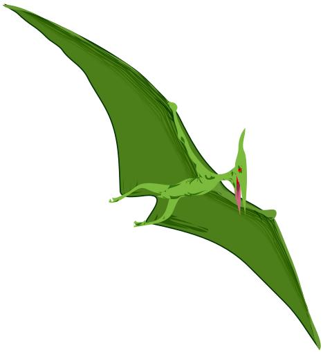 Pteranodon clipart Clip Pterodacty Art Dinosaur Green