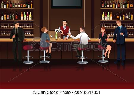 Pub clipart Illustration people and illustration Pub