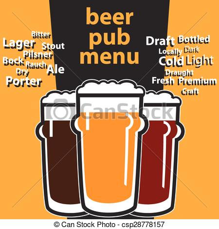 Beverage clipart pub Design with with typing menu