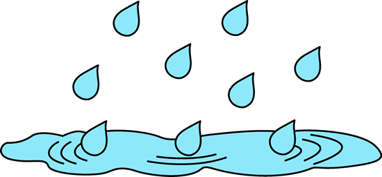 Raindrops clipart cute Puddle Art Rain Clip Rain