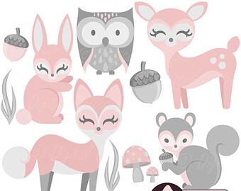 Baby Animal clipart woodland fox & art Deer Clipart Baby