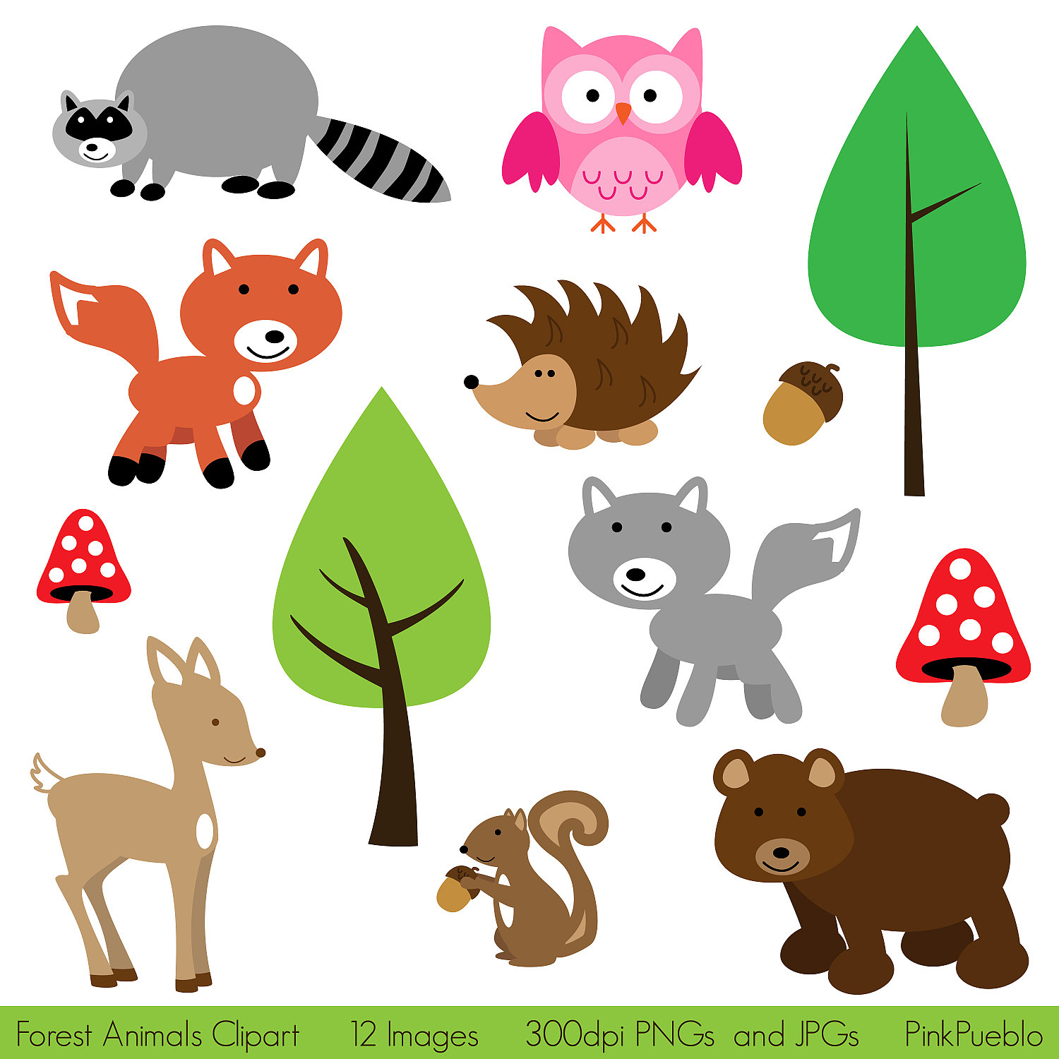 Zoo clipart forest animal And Clip Clip Forest Woodland