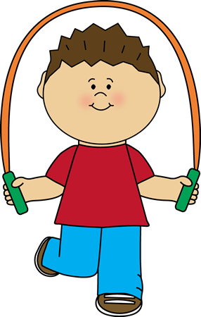 Boy clipart jumping rope Art Jump Art  with