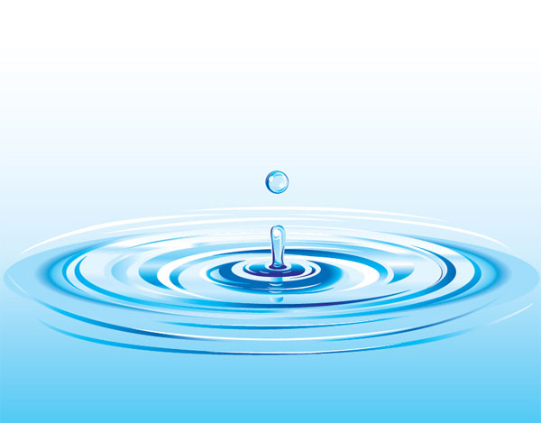 Blue Water clipart clean water Vector Water Art Free Free