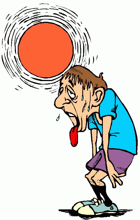 Heat clipart hot weather Florida summer Weather Running Funny