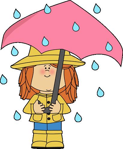 Dress clipart rainy Girl under the umbrella umbrella