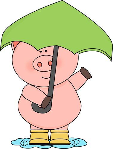Pork clipart pink pig Pig the Raining yellow Art