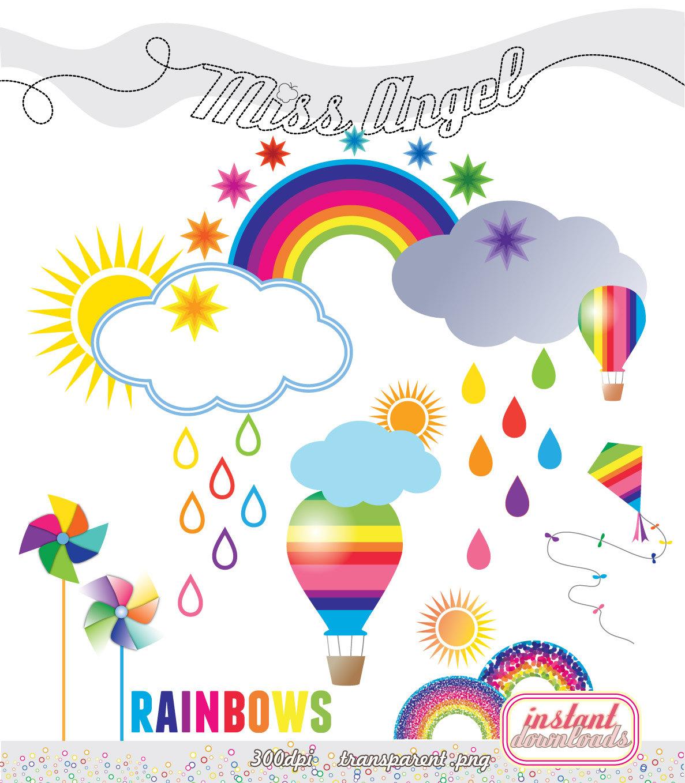 Haven clipart sun cloud Weather printable Rainbows cliparts clipart