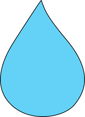 Waterdrop clipart colorful raindrop #10