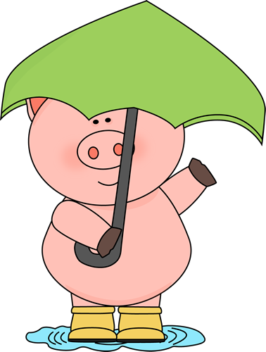 Boots clipart cartoon Cliparts With Umbrella Puddle Pig