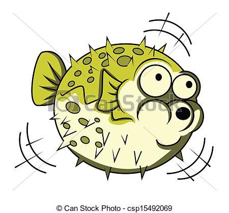 Pufferfish clipart Search csp15492069 puffer Vector