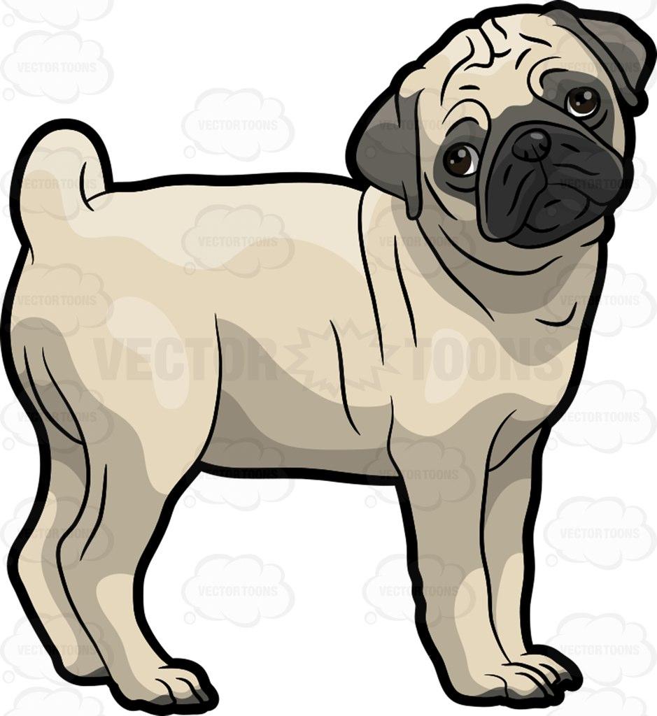 Pug clipart Pug Collection Barking pug and