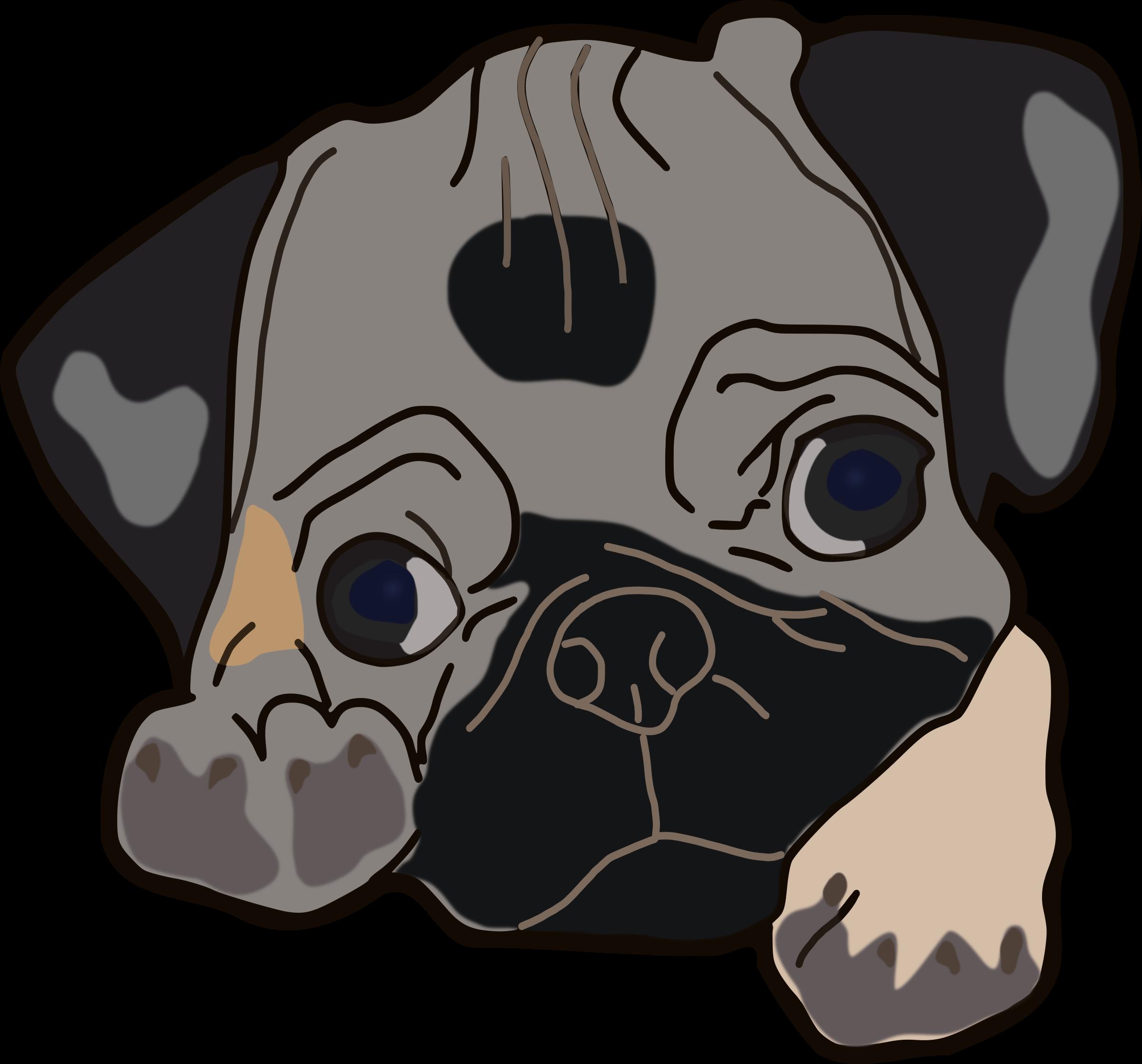 Pug clipart Pug Cute Cute Pug Clipart