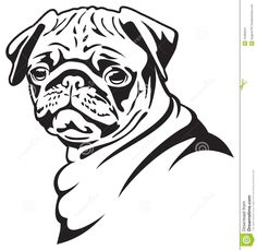 Drawn pug outline Featuring A from faces http://images