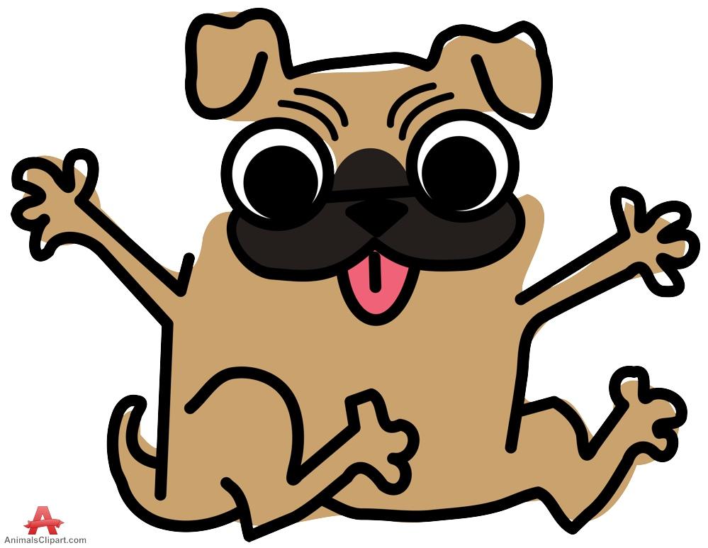 Pug clipart Clipart dog pug Barking Clipart