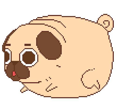 Drawn pug 8 bit On on best Pin 103