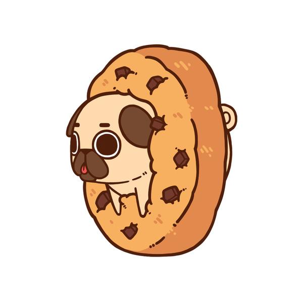 Drawn pug cartoon Cute animated wallpaper pug wallpaper