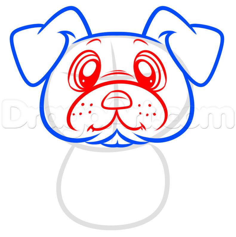 Drawn pug dragoart Draw  by Pug Step