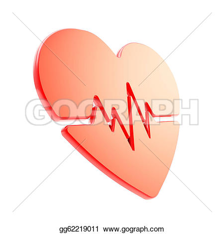 Pulse clipart love Pulse glossy beat health red