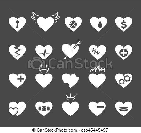 Pulse clipart love  csp45445497 EPS love Healthy