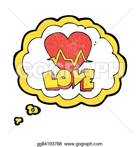 Pulse clipart love Bubble cartoon textured heart heart