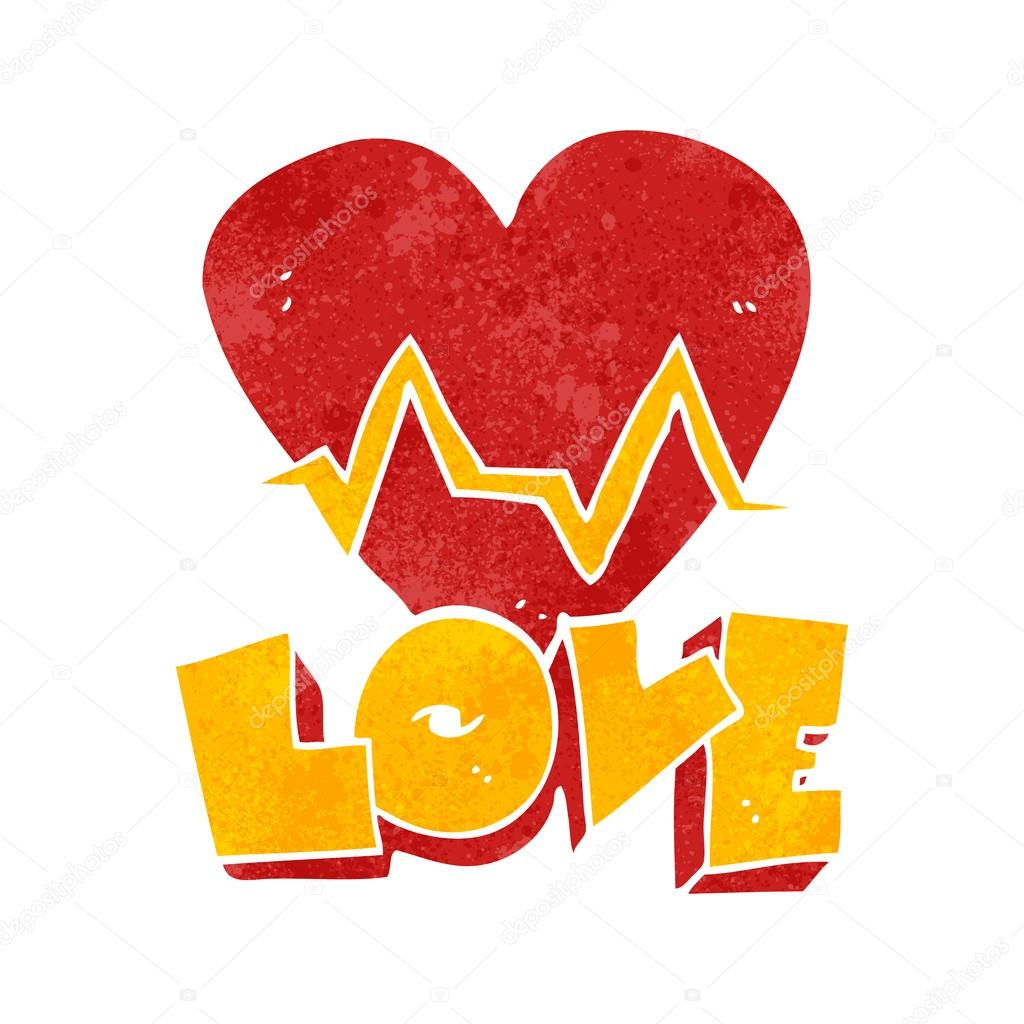 Pulse clipart love Stock — Vector Stock