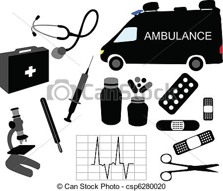Medicine clipart item Csp6280020 Vector of medical Vector