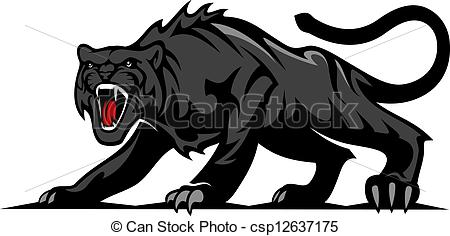Puma clipart Royalty 245 EPS black panther