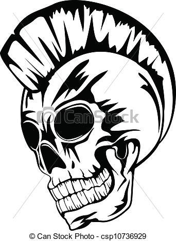 Punk clipart Clipart skull skull 607 Clip