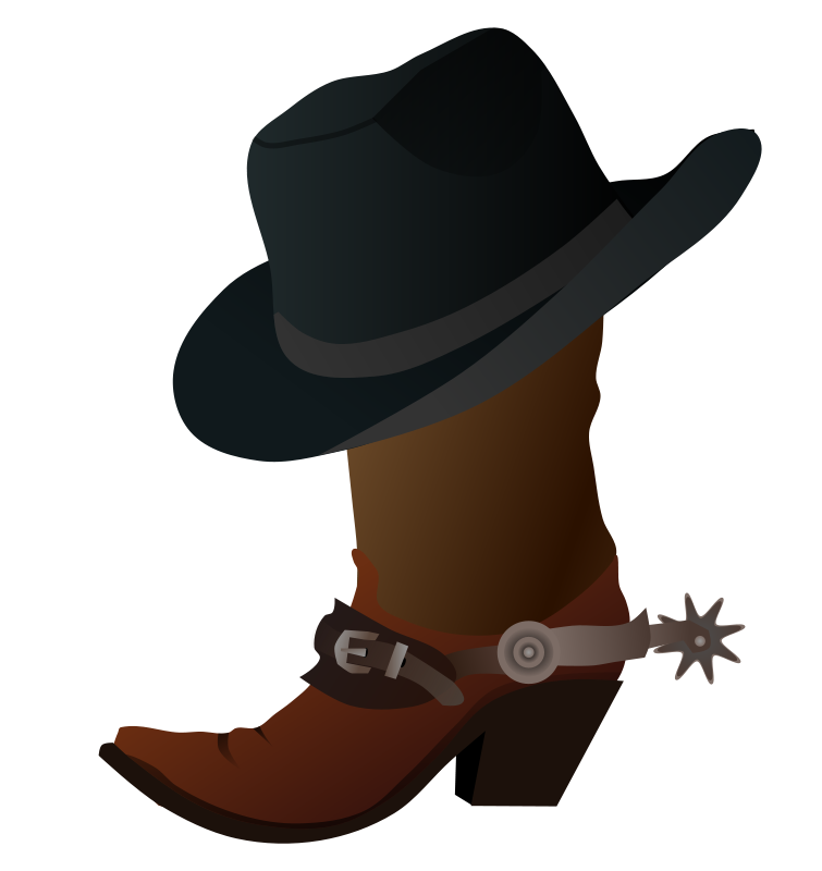 Punk clipart cowboy star Boots and  clipart Boot