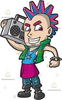 Mohawk clipart spiky hair And BLACK Radio A The