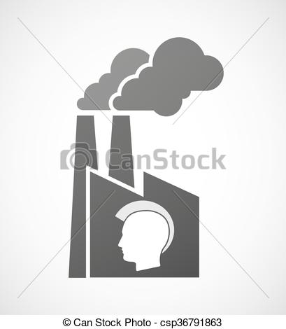 Punk clipart silhouette Silhouette industrial male industrial