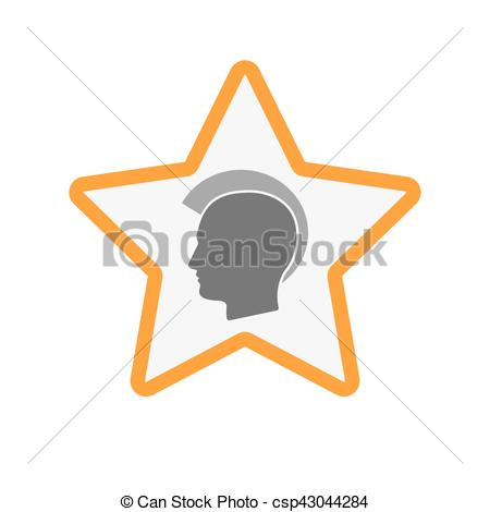 Punk clipart silhouette Vector star punk star csp43044284