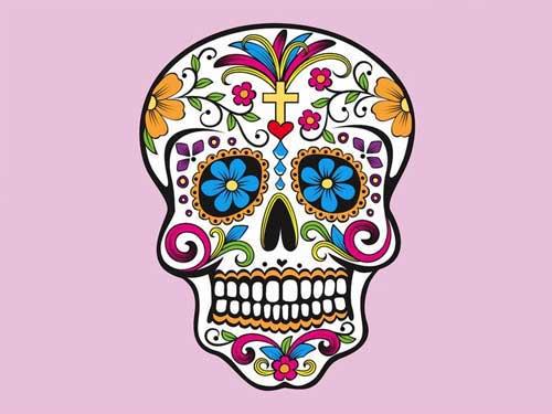 Sugar Skull clipart tribal Clip Vectors Punk Art: Free