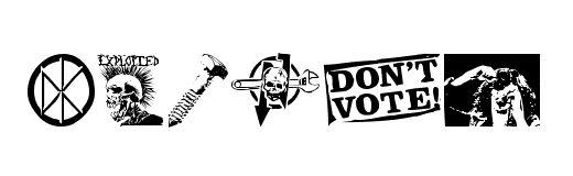 Punk clipart symbol Designs com by Punk Dingbats